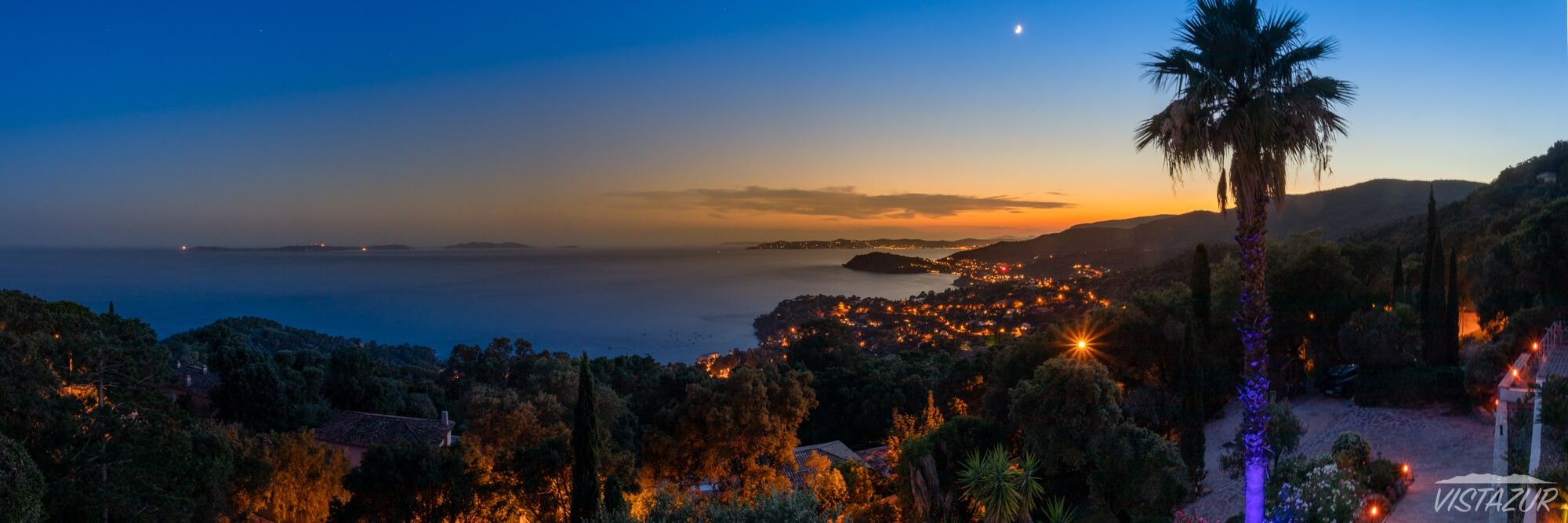Vistazur villa gulf of Saint-Tropez sunset